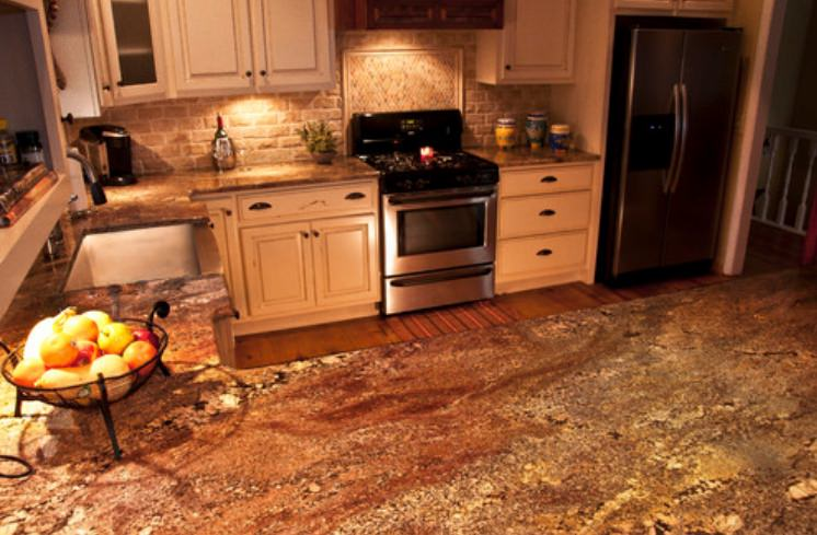 Crema Bordeuax Granite Kitchen