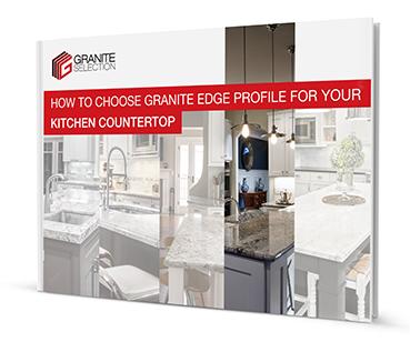 Granite kitchen countertop edges
