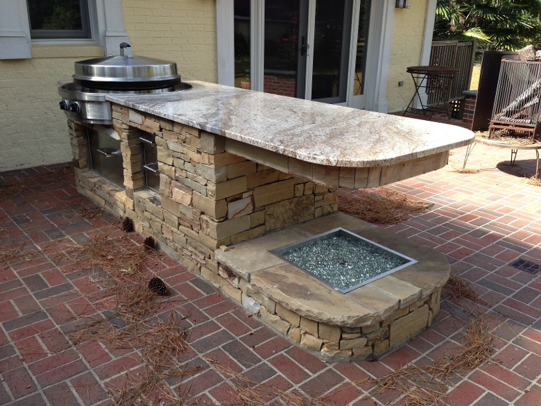 Genial Small Set Up Outdoor Kitchen Granite